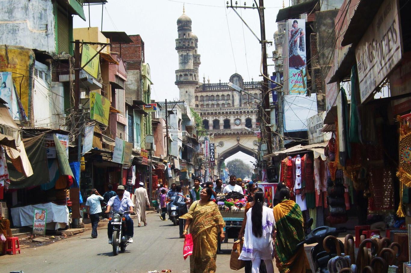 Street market in Hyderabad