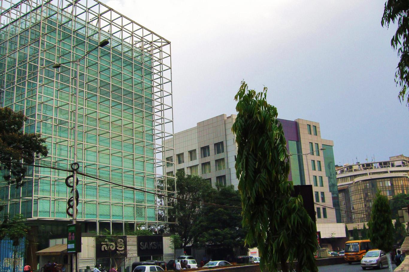 New, modern part of Hyderabad
