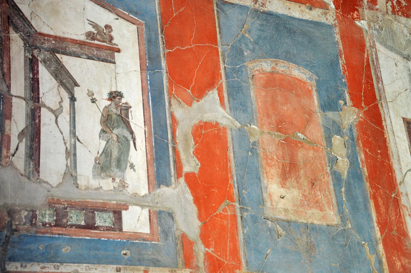 Frescoes in Herculaneum