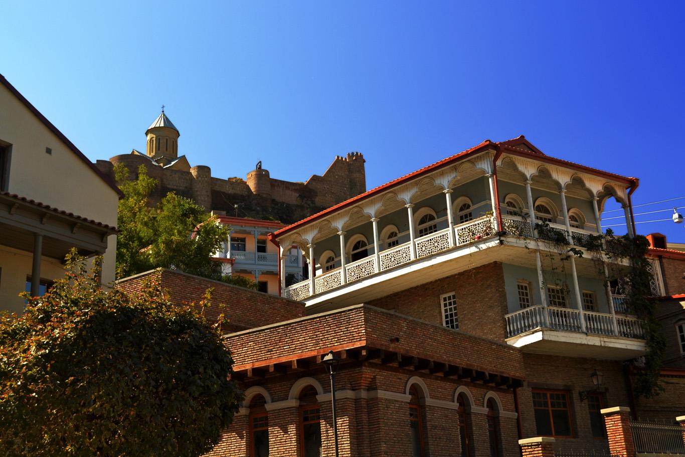 Wooden balconies in Tbilisi