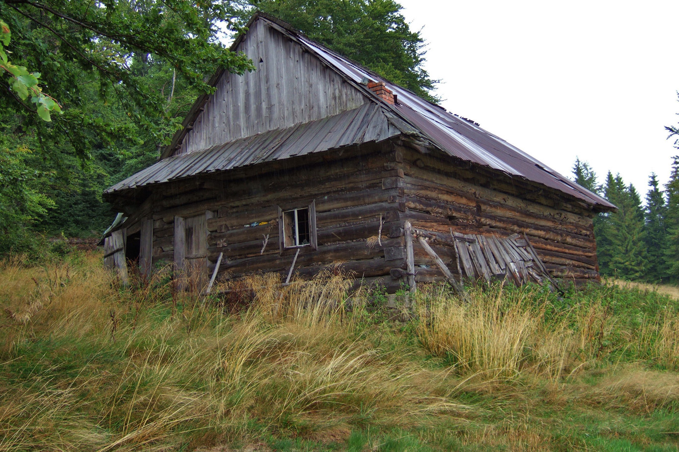One of the abandoned cottages