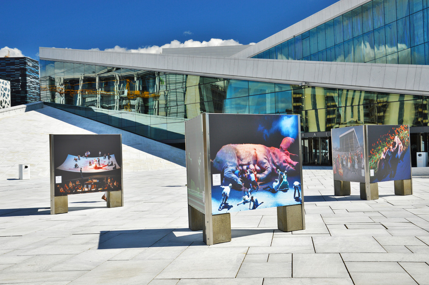 Art exhibition in front of the Opera building
