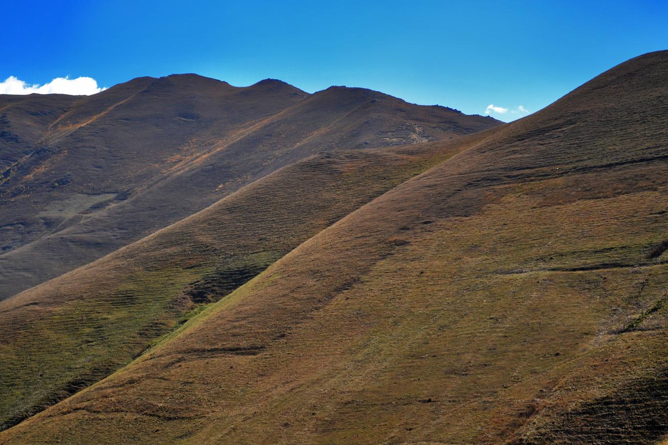 Bare mountains
