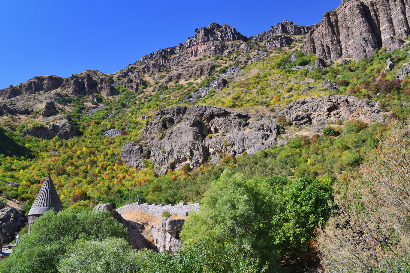 Typical landscapes in Armenia