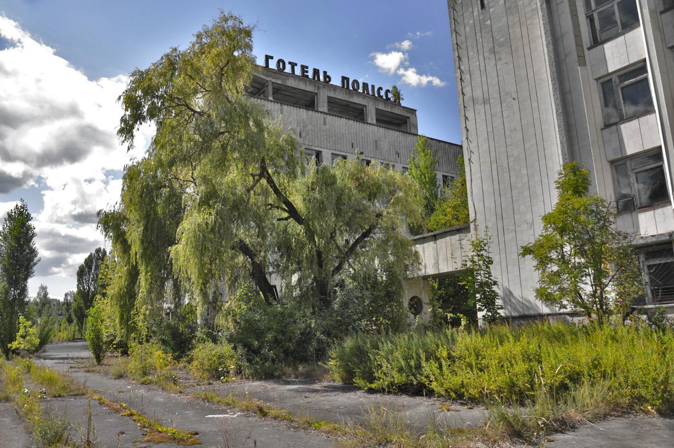 Abandoned hotel in Pripyat