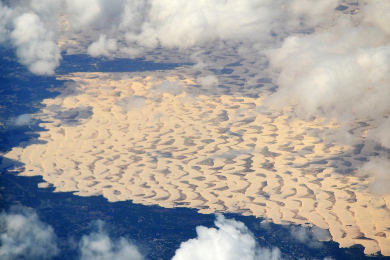 Aerial view of Lencois Maranhenses