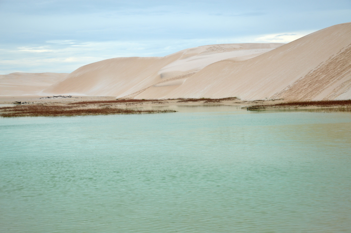 Dunes and water