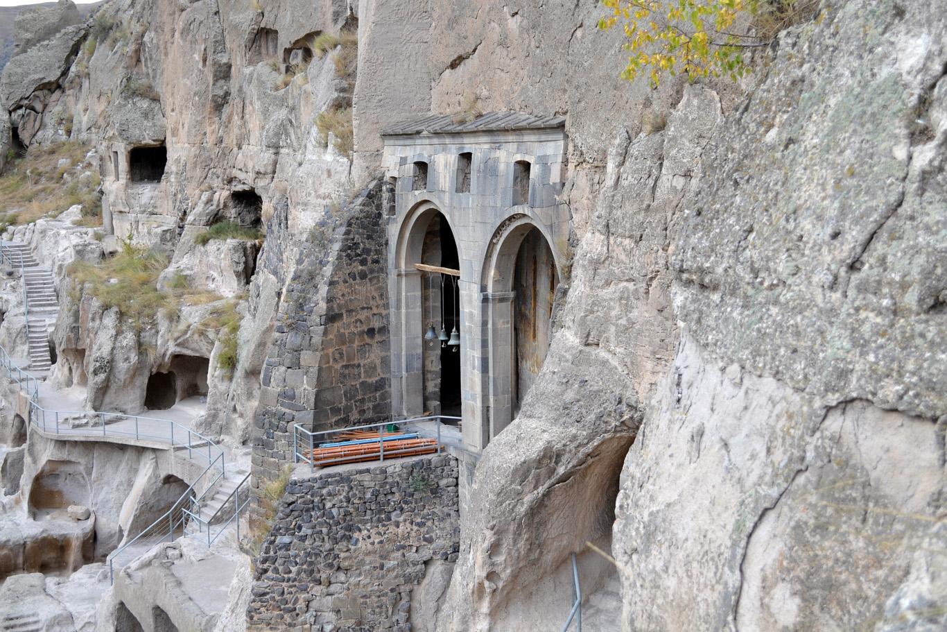 Vardzia - The gate to church of the Dormition