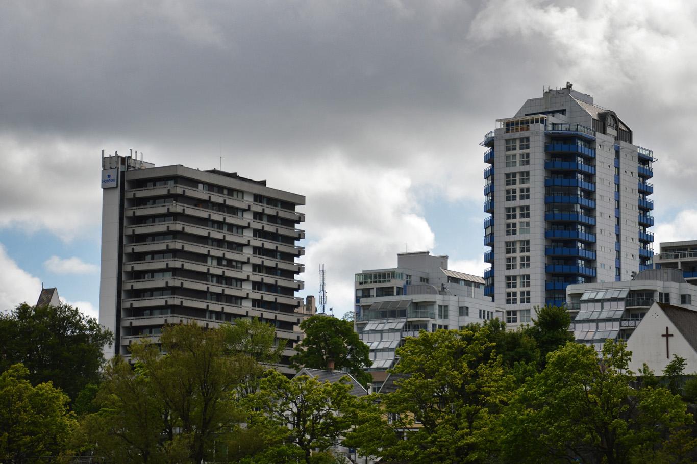 Modern part of Stavanger