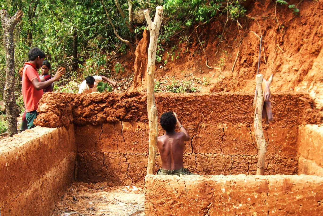 Building a traditional house
