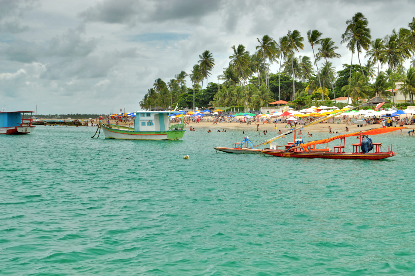 The beach in Porto de Galinhas