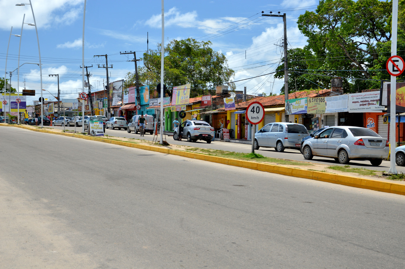Main street in Porto de Galinhas