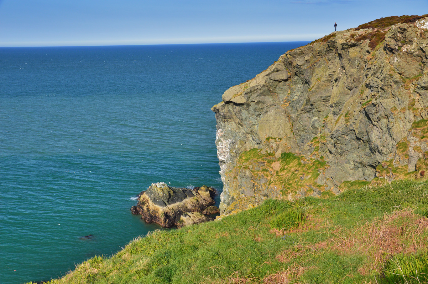 Standing on a cliff edge