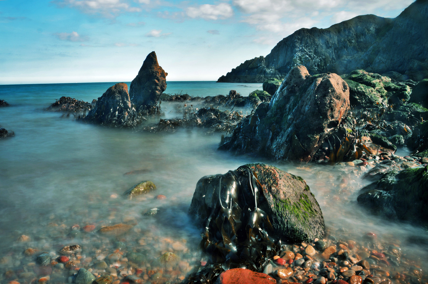 Howth beach - long exposure photo
