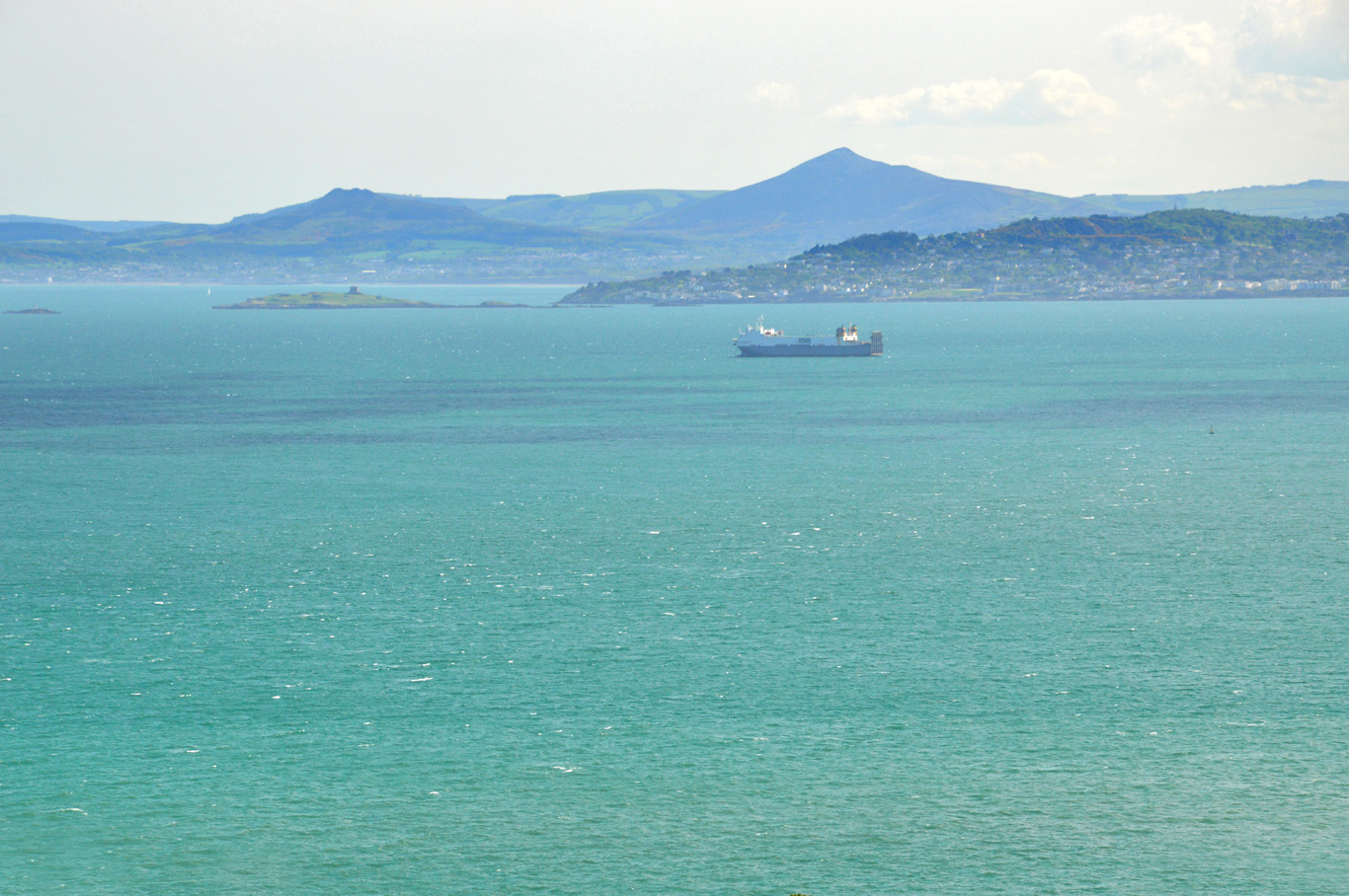 The southern side of Dublin Bay viewed from Howth