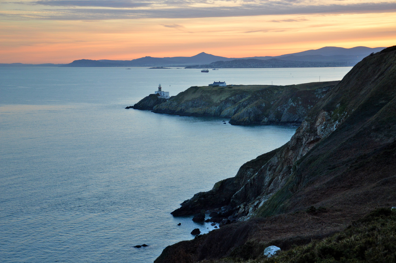 Sunset colors in Howth
