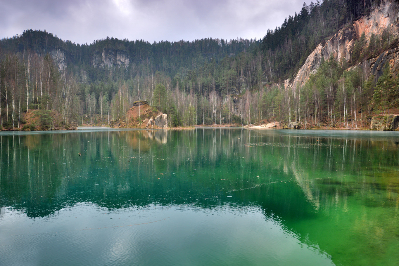 Clear waters of the sandpit lake