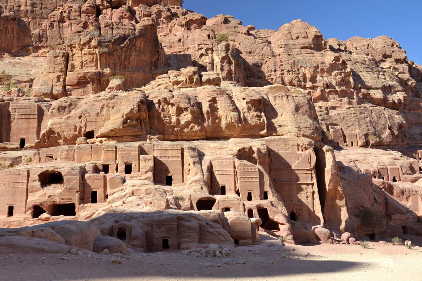 Multiple tombs in Petra