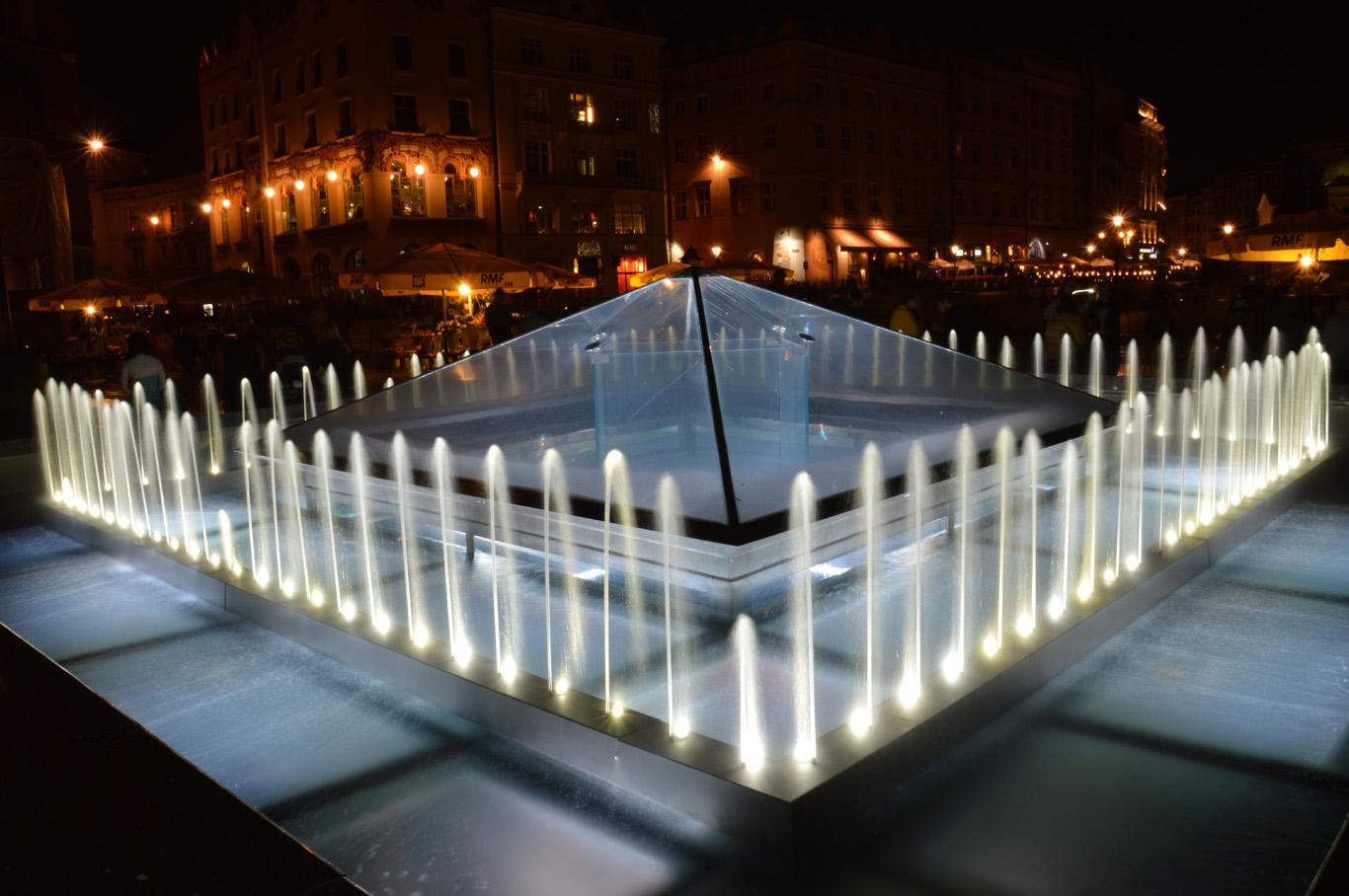 A fountain in the market square