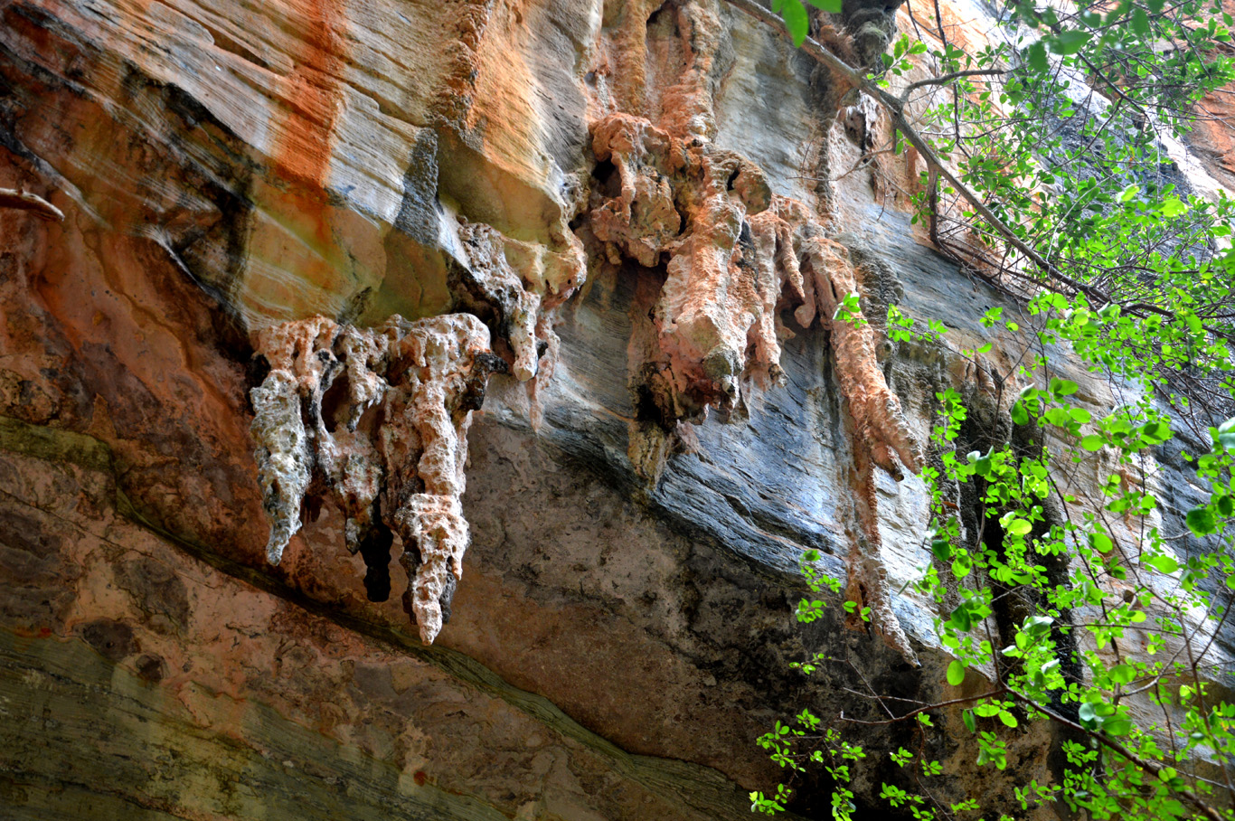 Rock formations in front of Torrinha Cave