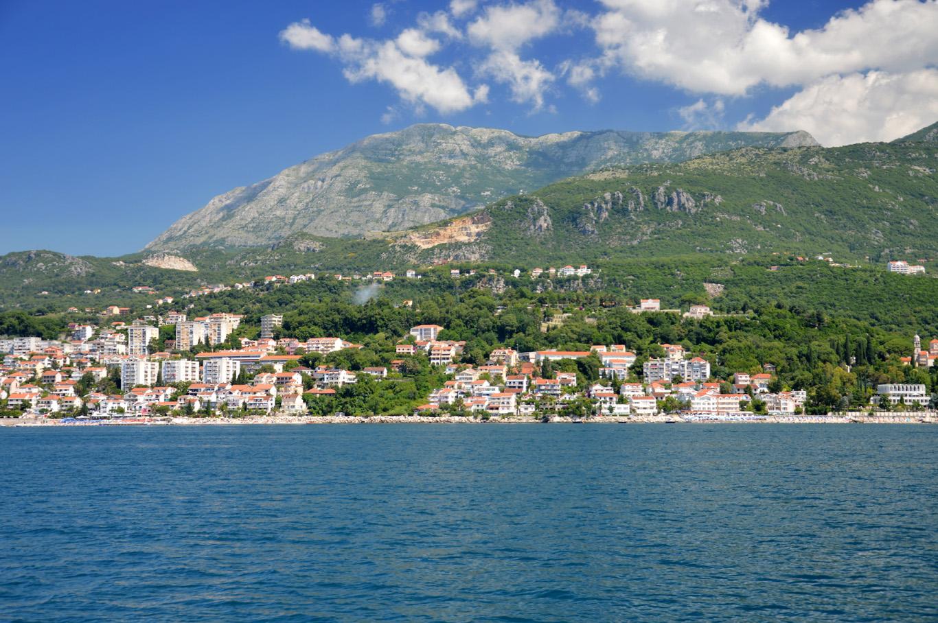 Herceg Novi and the Orjen mountain