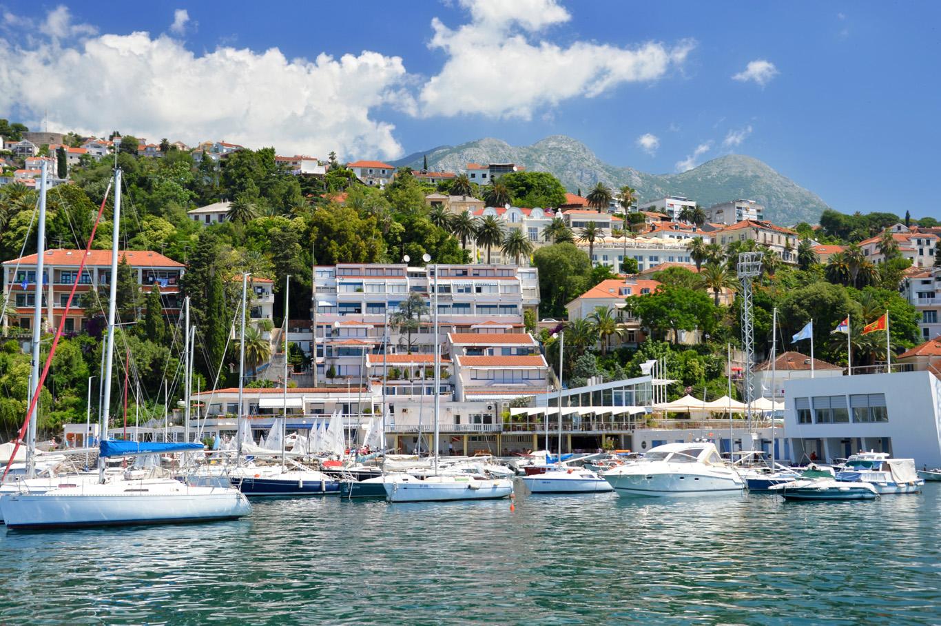 Boats in the port of Herceg Novi