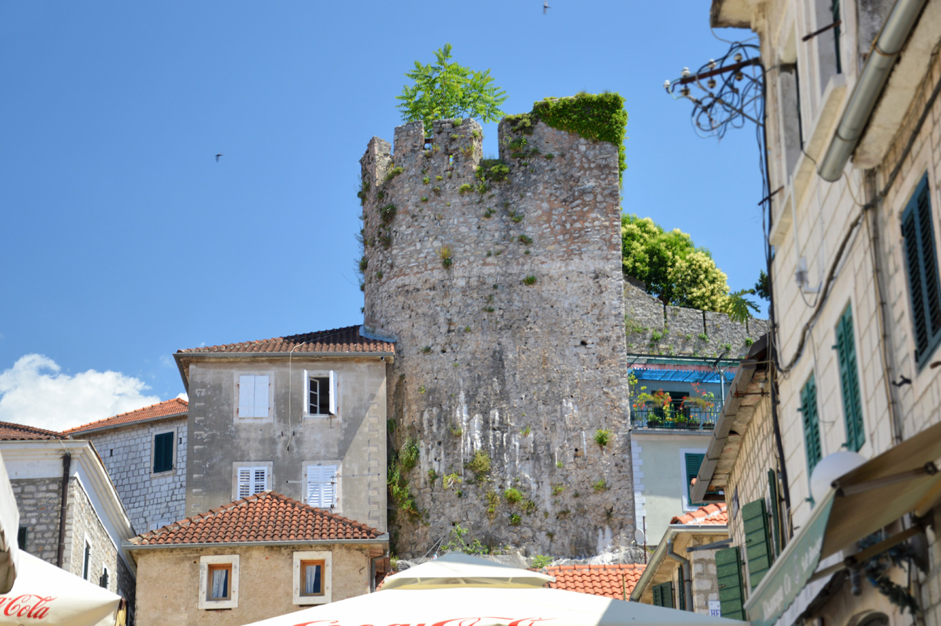 The part of old city walls