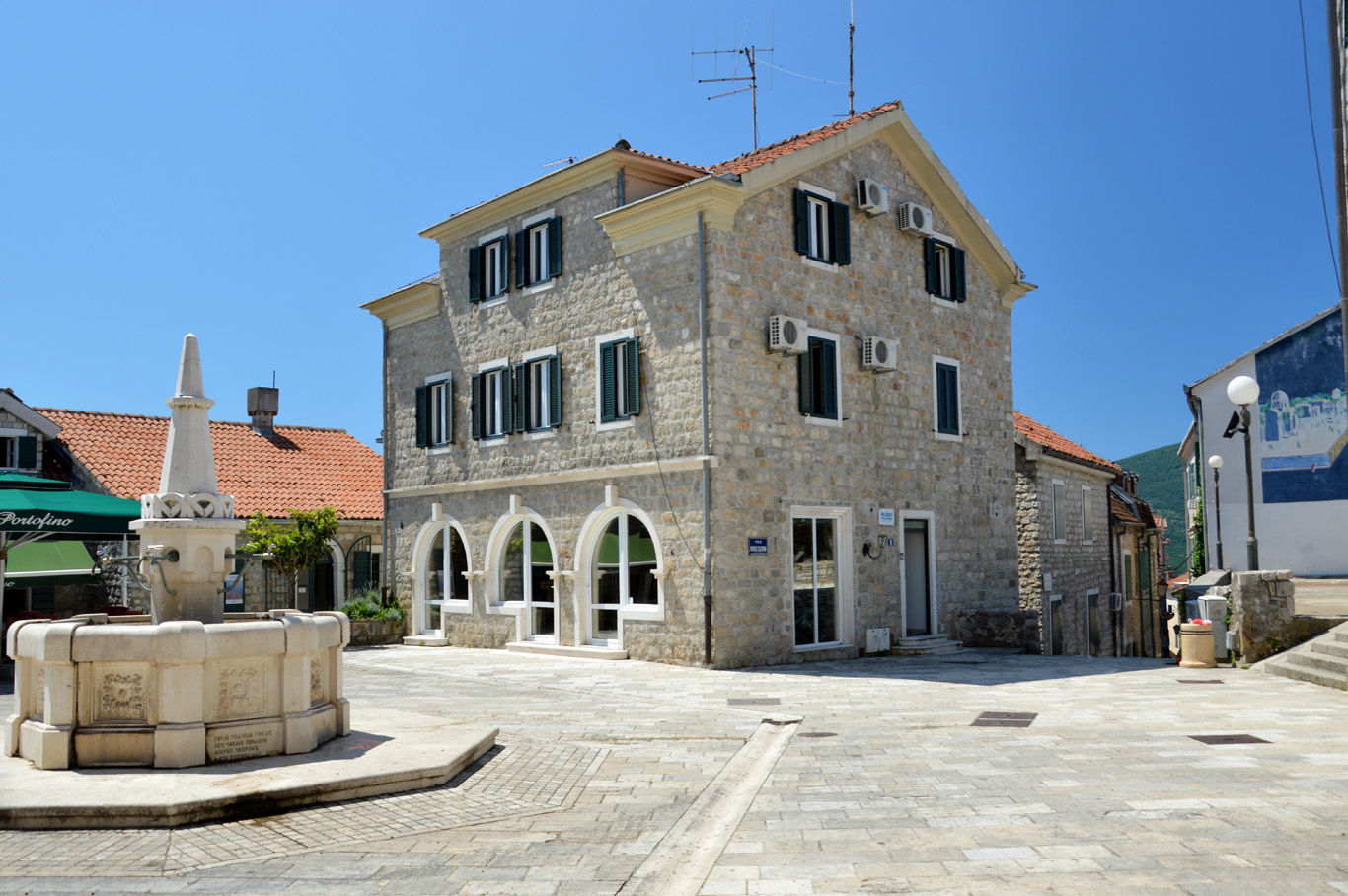 One of the small squares