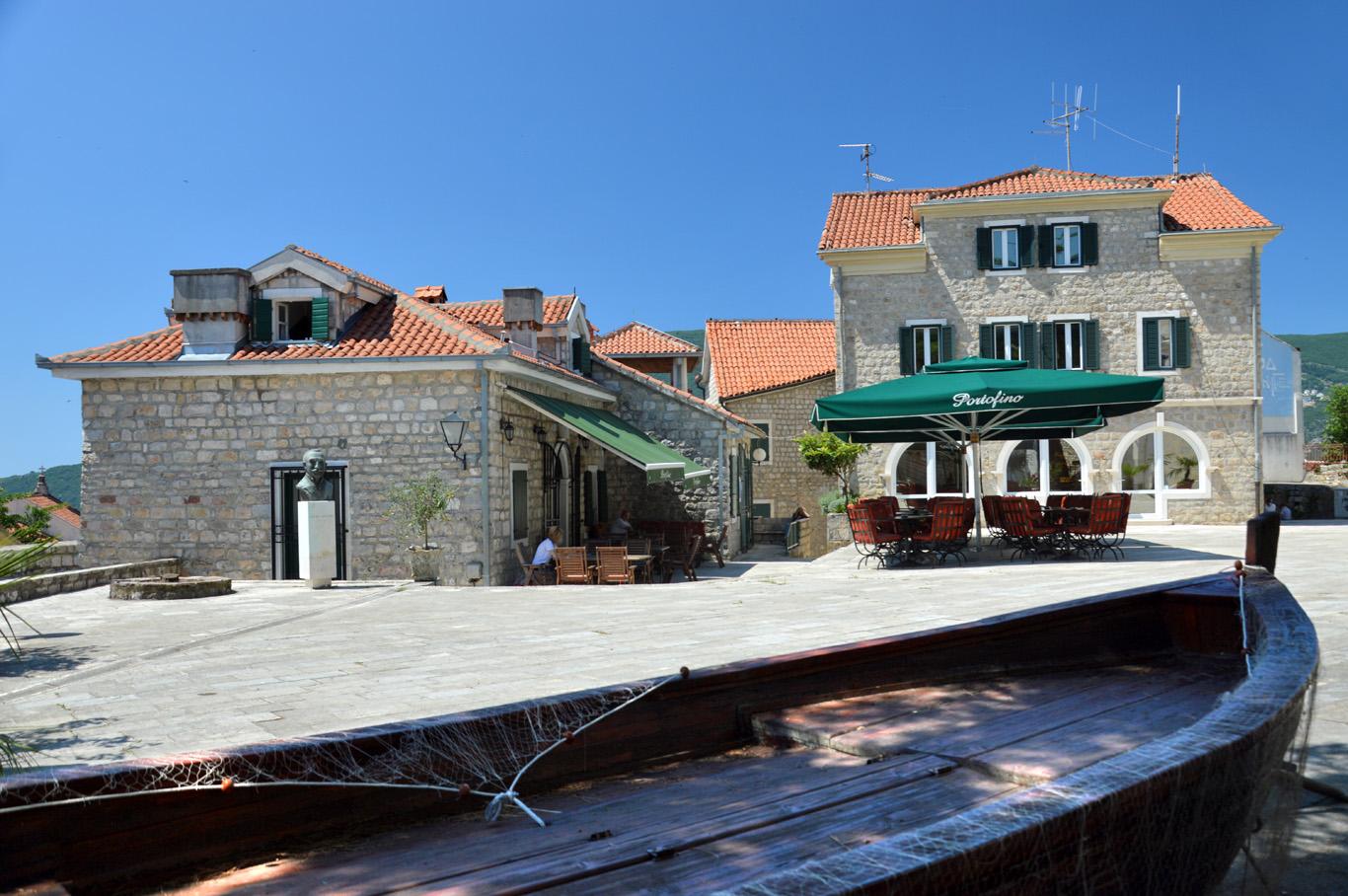A boat in Herceg Novi Old Town