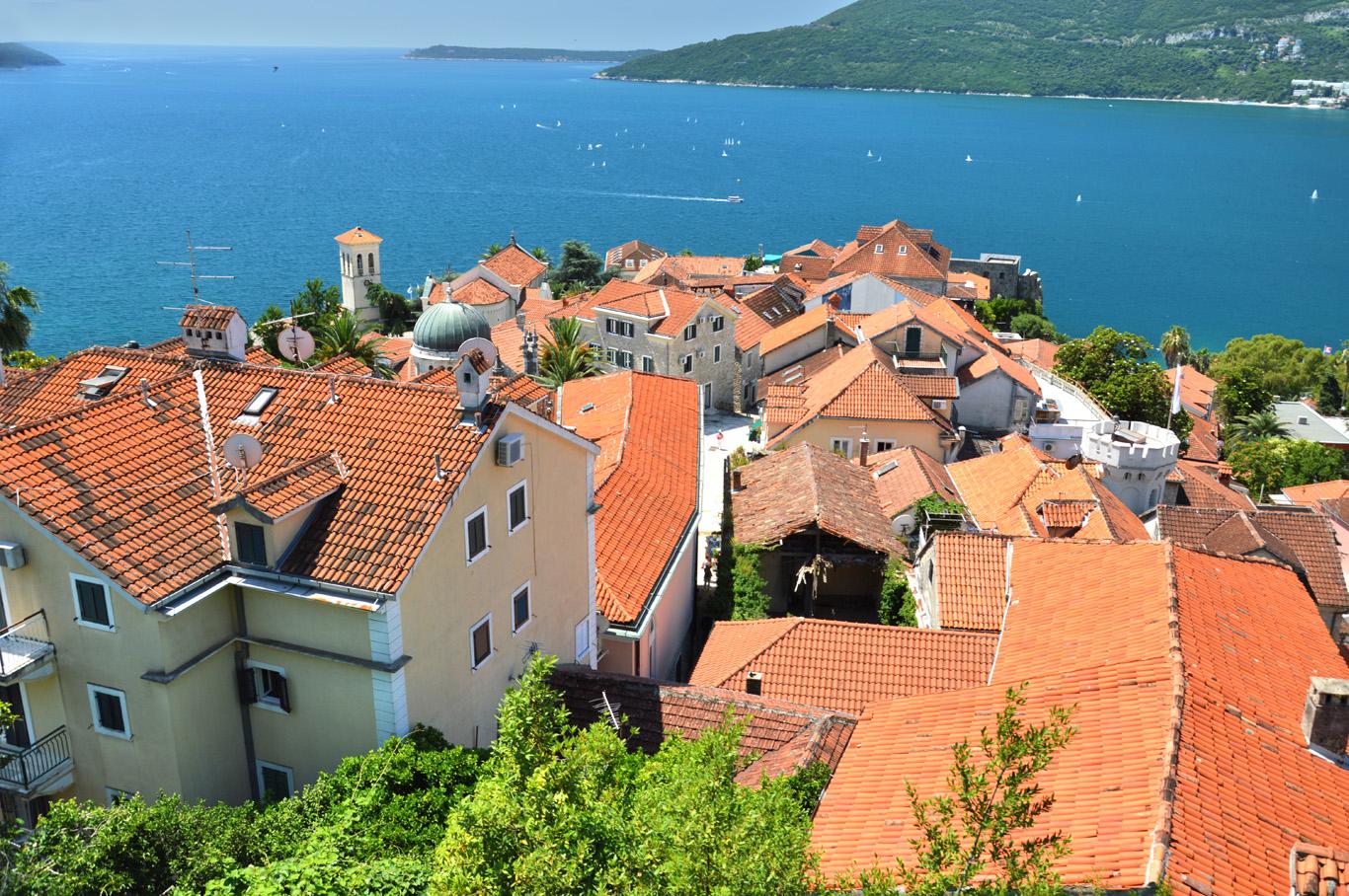 Red roofs of Herceg Novi