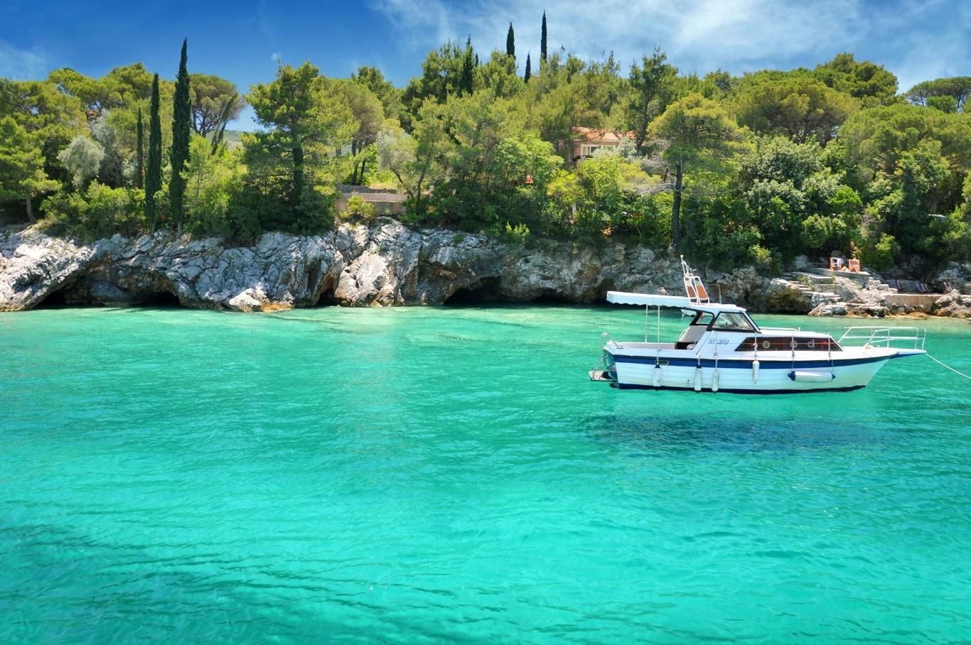 """Floating boat"" at Zanjic beach"