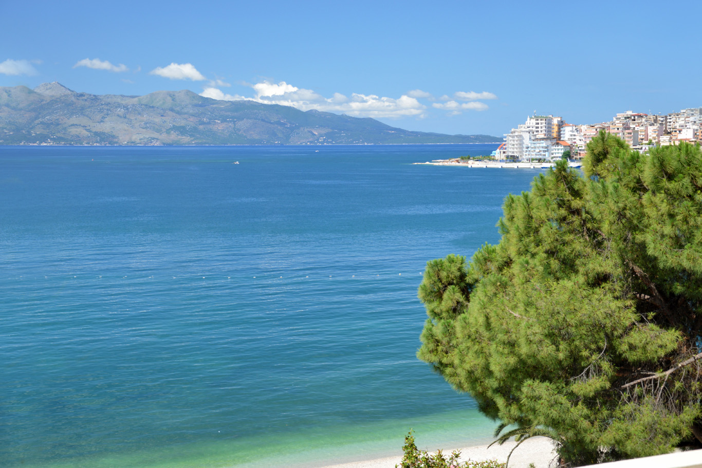 Ionian Sea and Corfu - view from Sarande