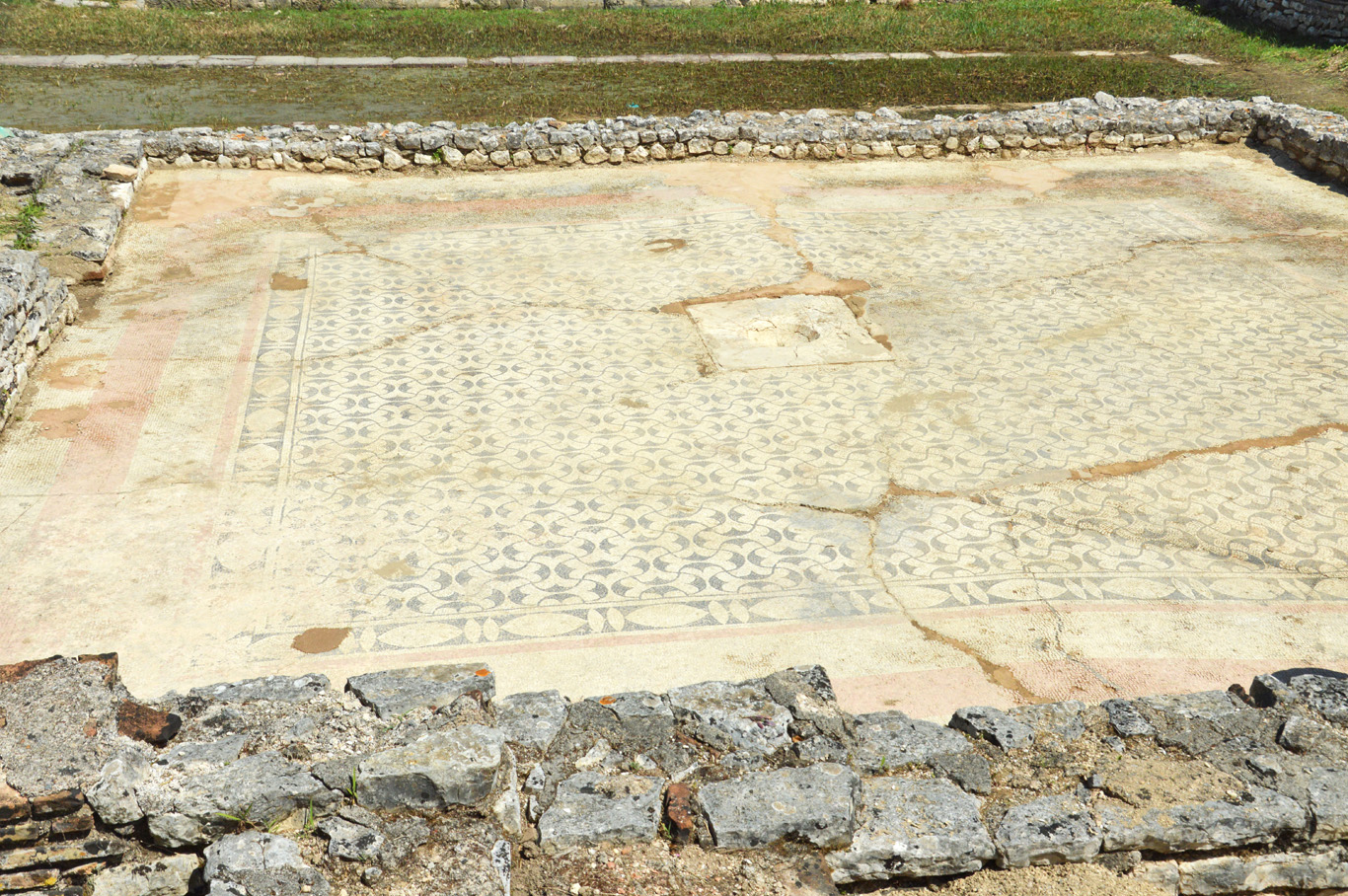 One of the mosaics in Butrint