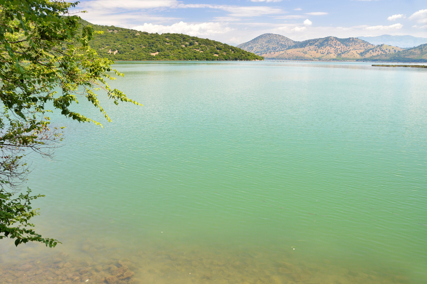 The lake surrounding Butrint