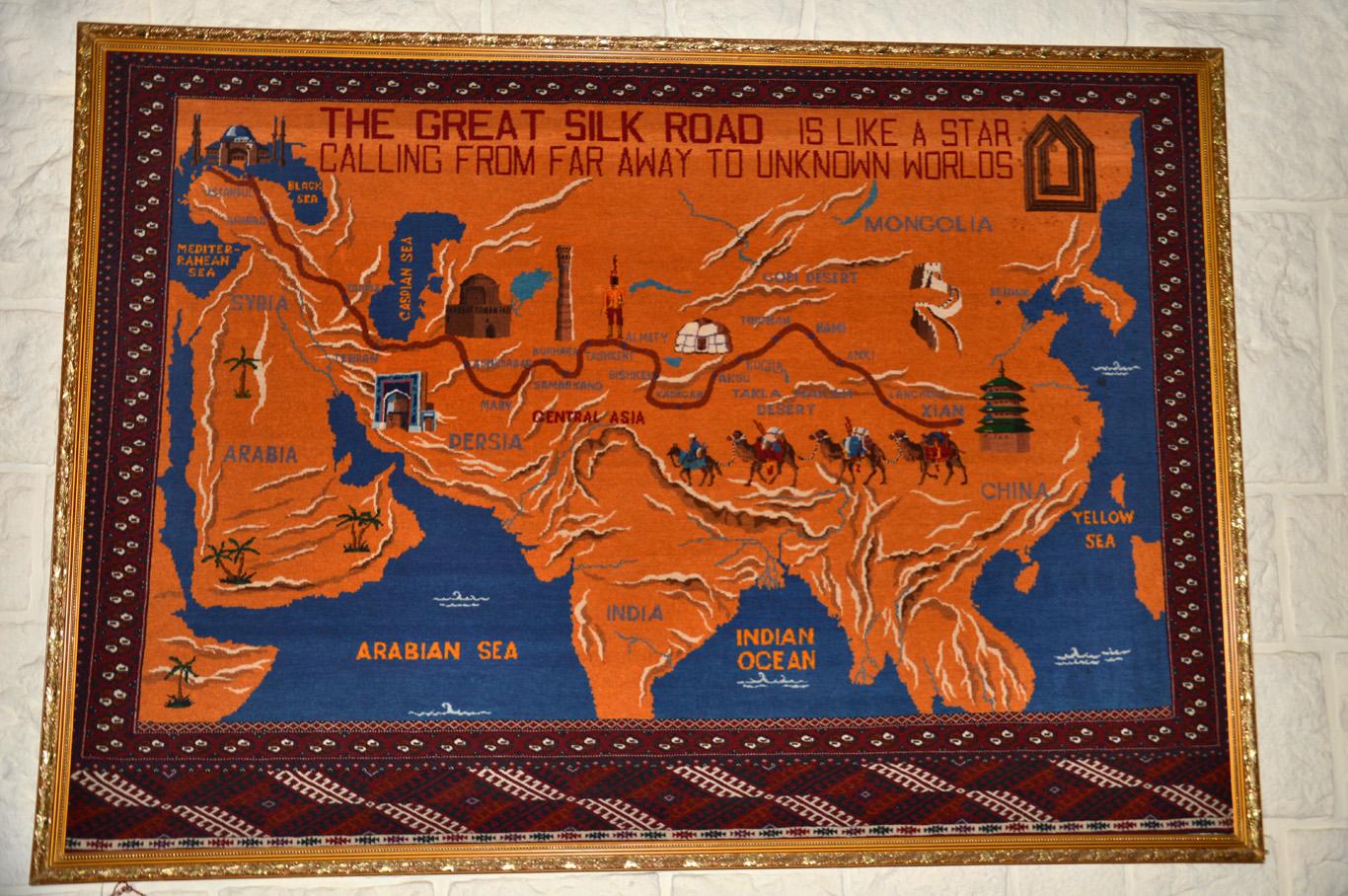Silk Road Carpet Map
