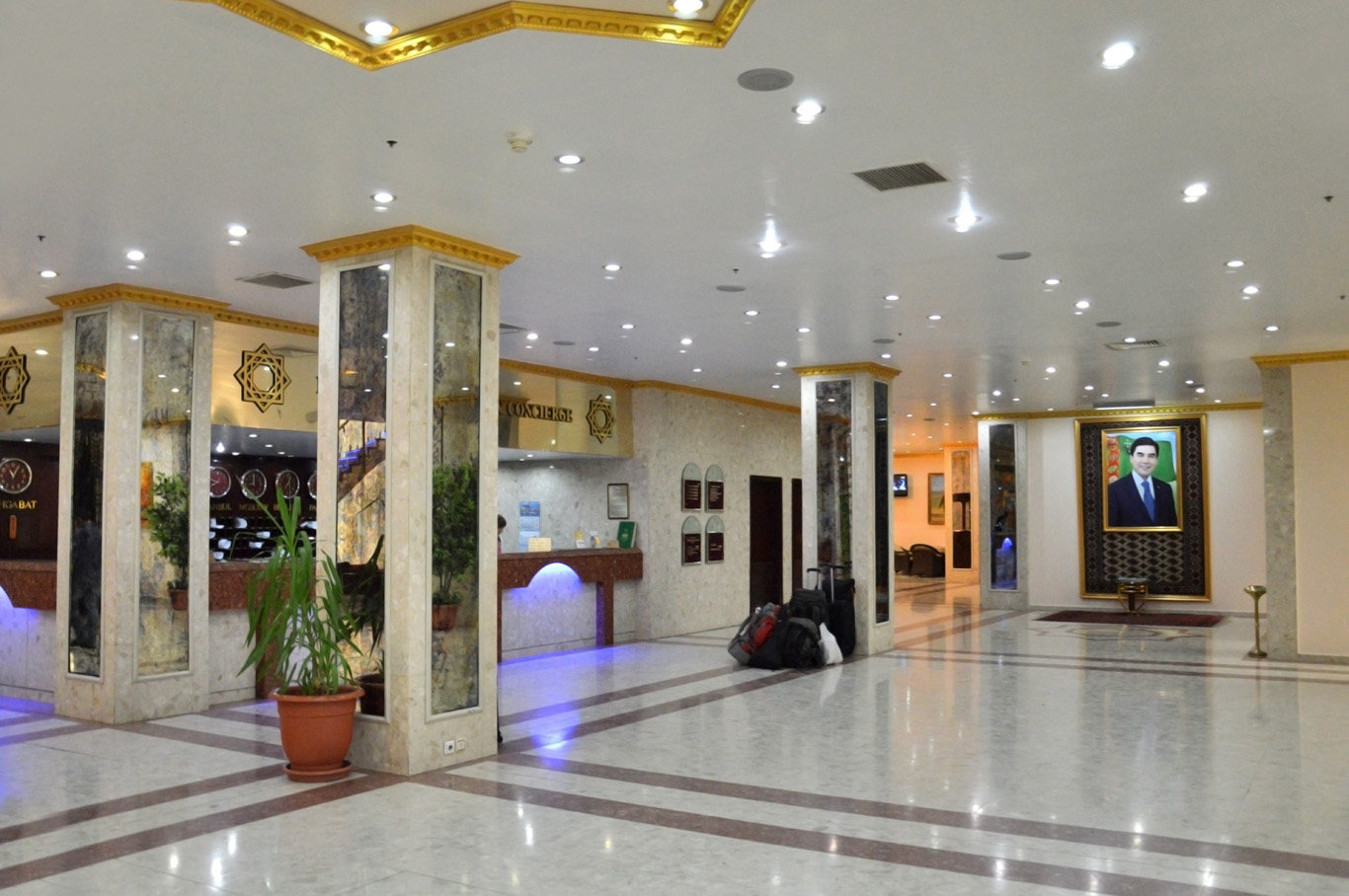 Interior of a hotel in Ashgabat