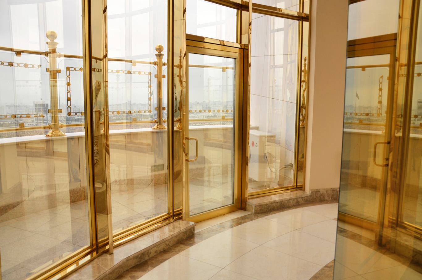 Golden interior of Neutrality Arch