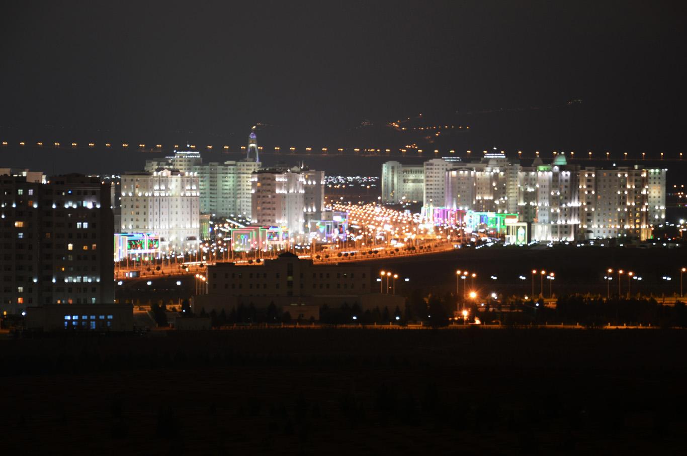 Panorama of Ashgabat - View from Bagt Kosgi