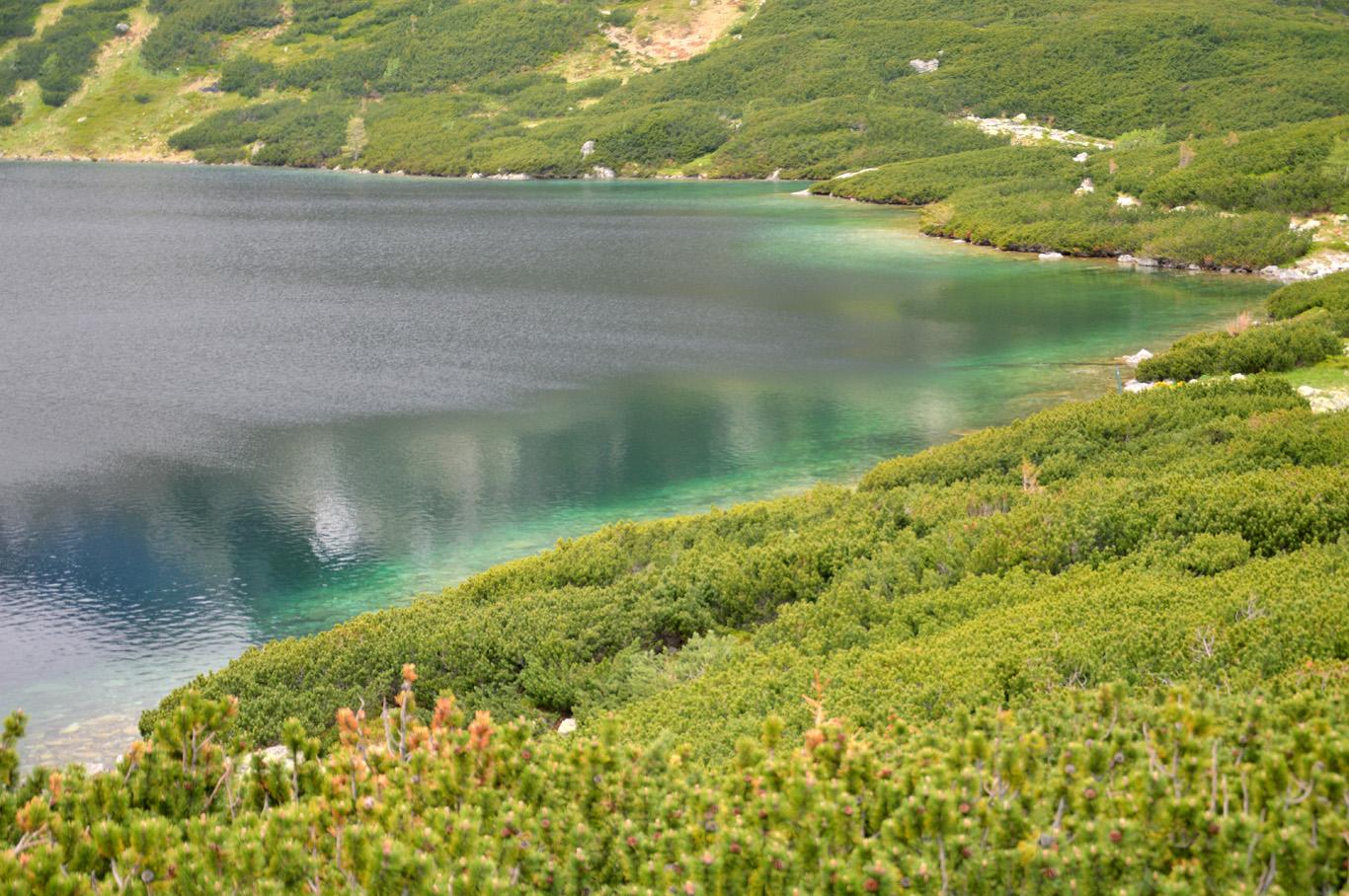 Emerald waters of Wielki Staw Polski (The Great Polish Lake)