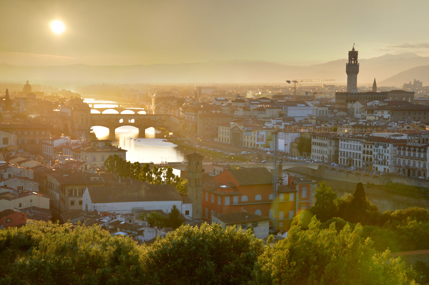 Sunset - view from Piazzale Michelangelo