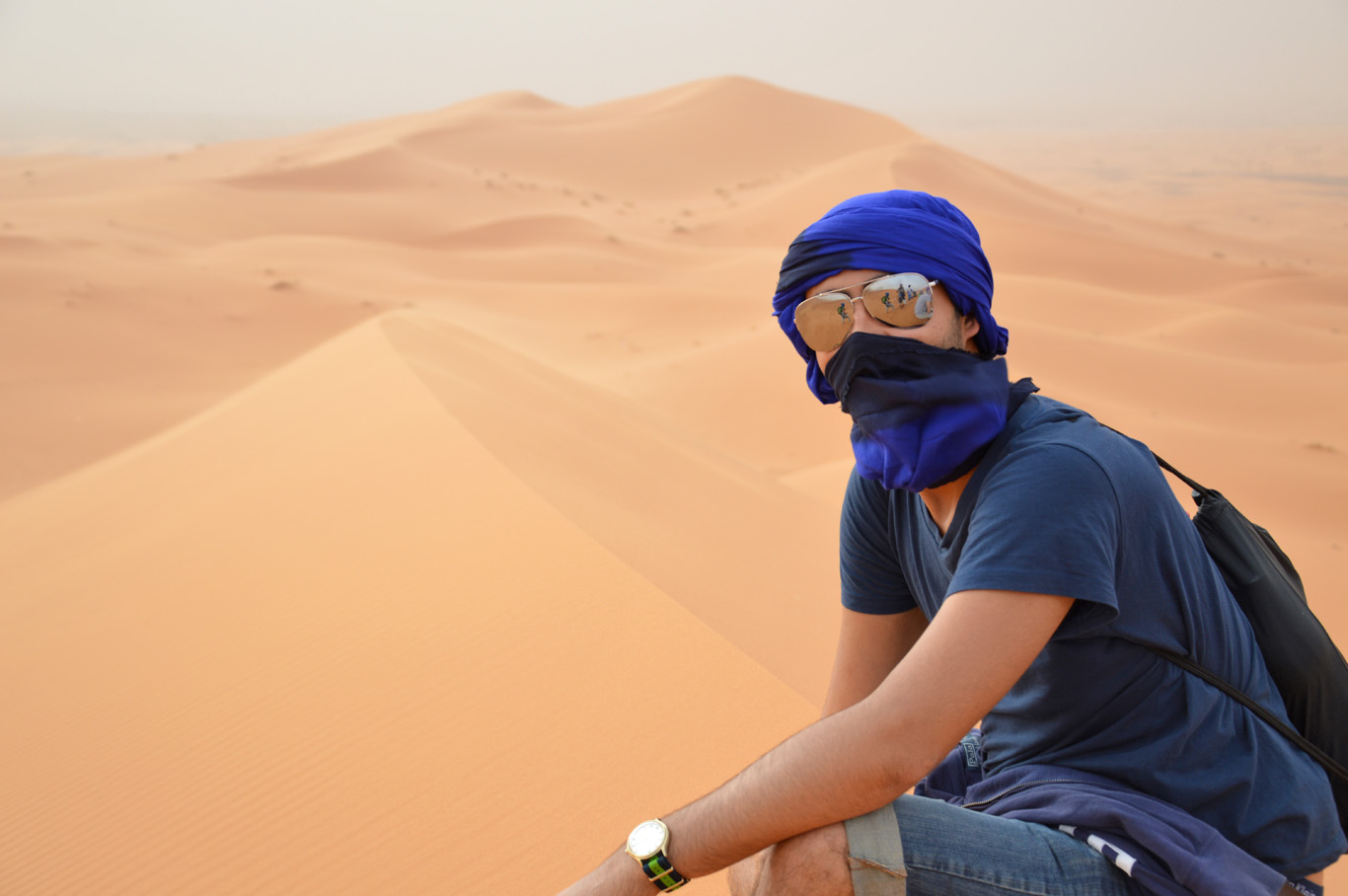 Bedouin scarf - protection from wind