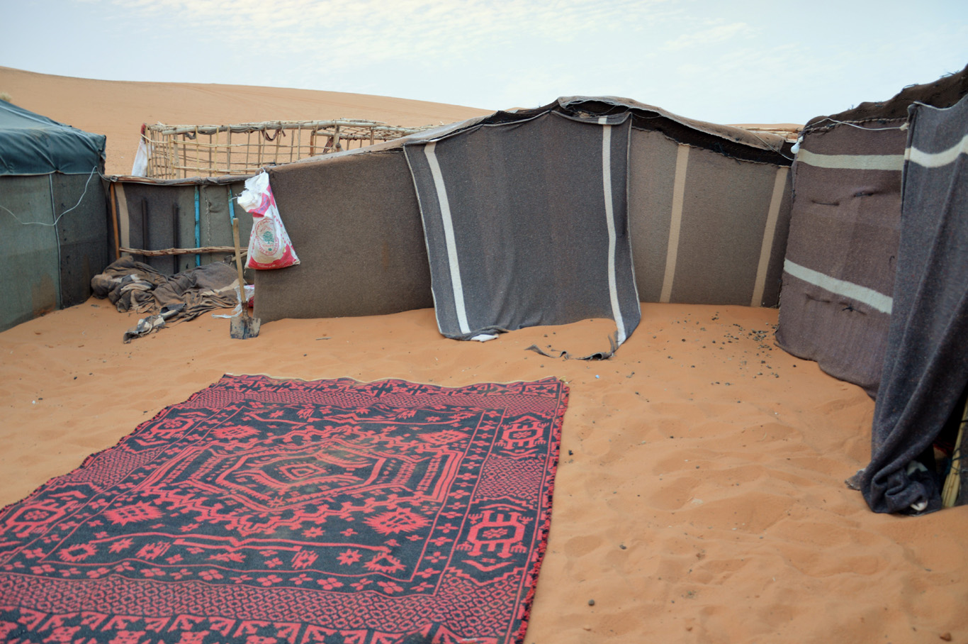 The nomadic tents