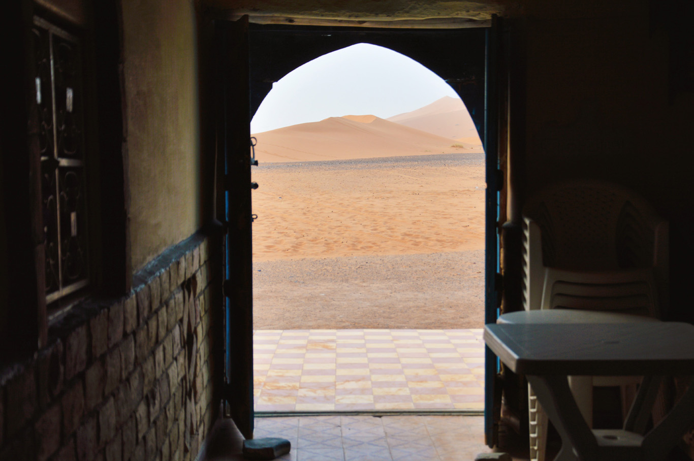 Amazing view from the desert guesthouse