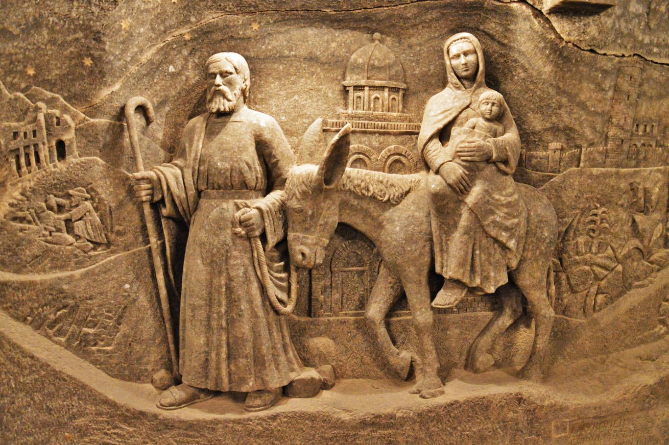 Salt sculptures in Saint Kinga's Chamber