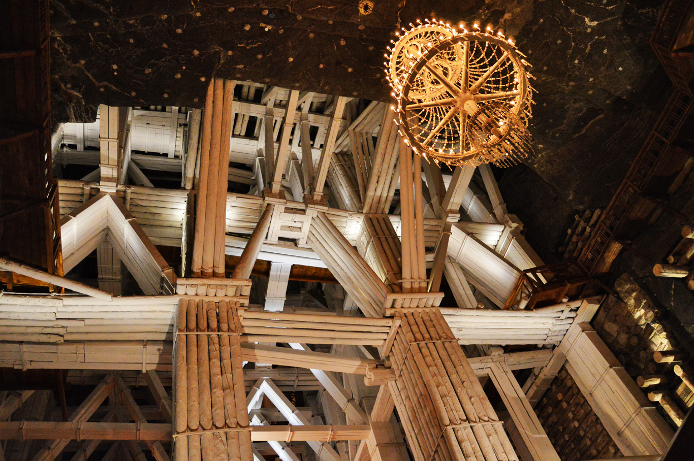 Wooden construction helps keep the ceiling intact