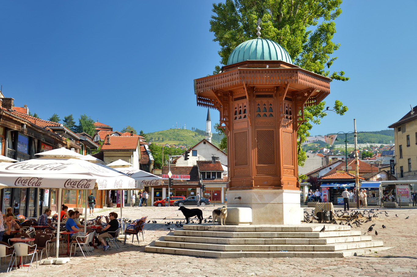 Sebijl - The Ottoman style fountain at the 'pigeon' square