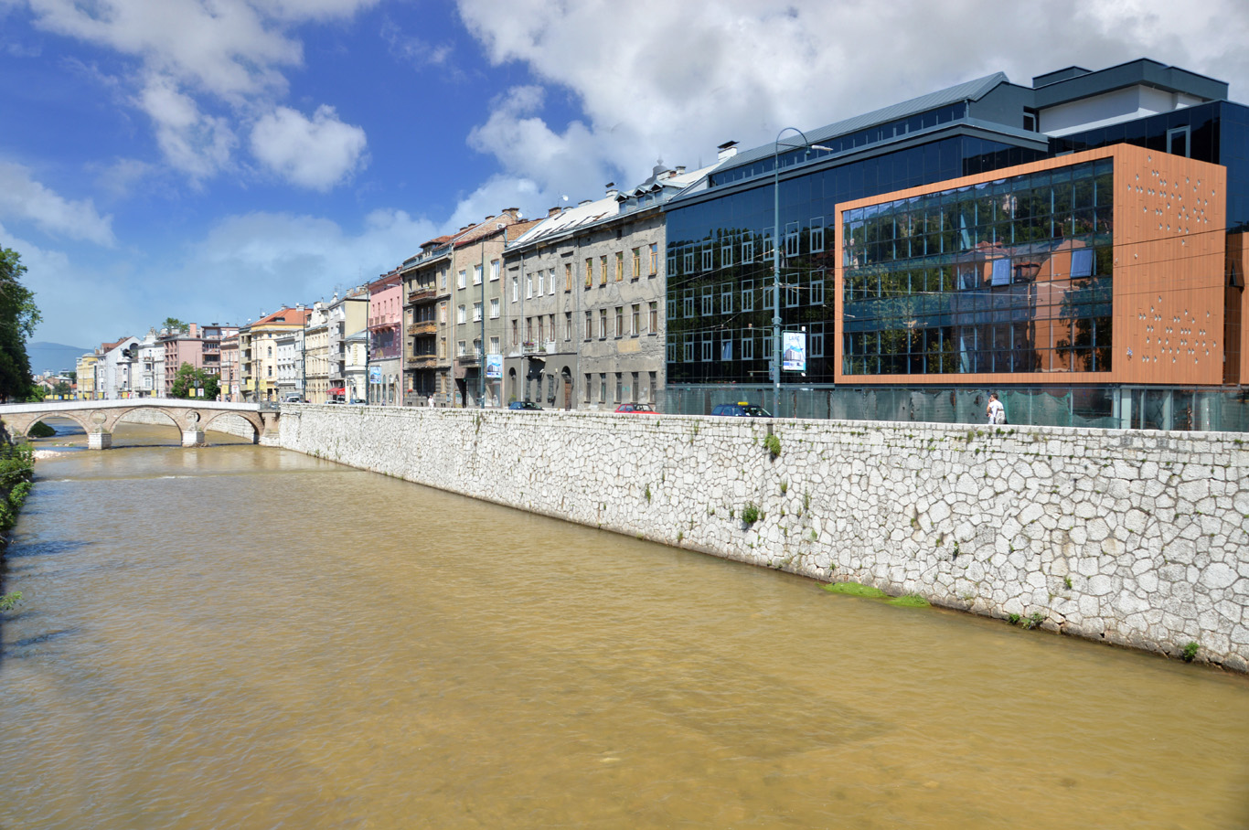 Buildings along the Miljacka River