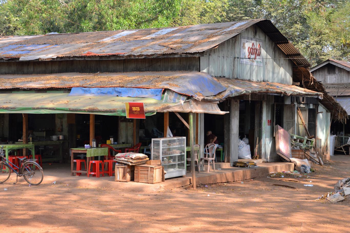 Local restaurant in Kyaikto village