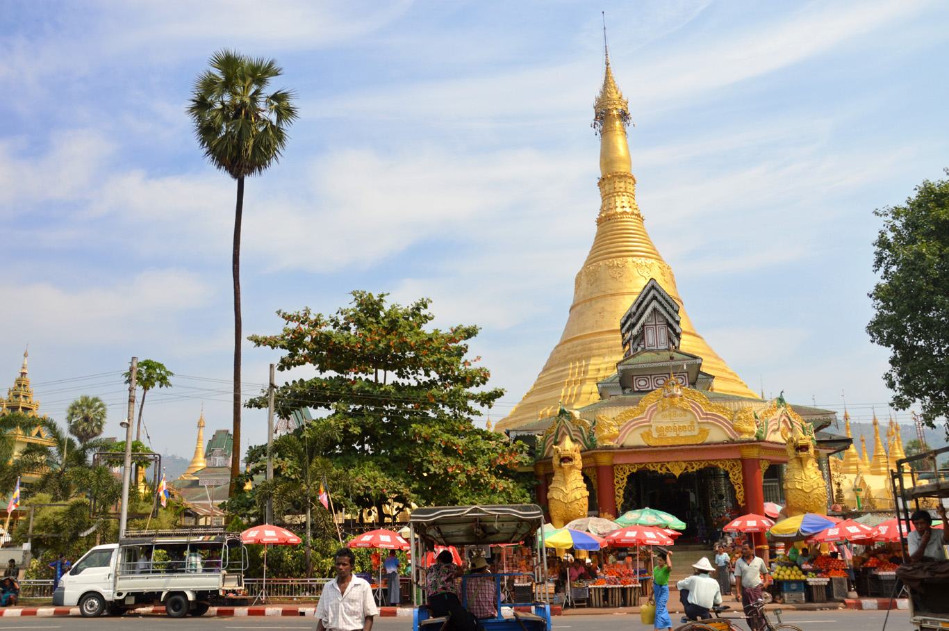 The town of Thaton - where we ended up by mistake