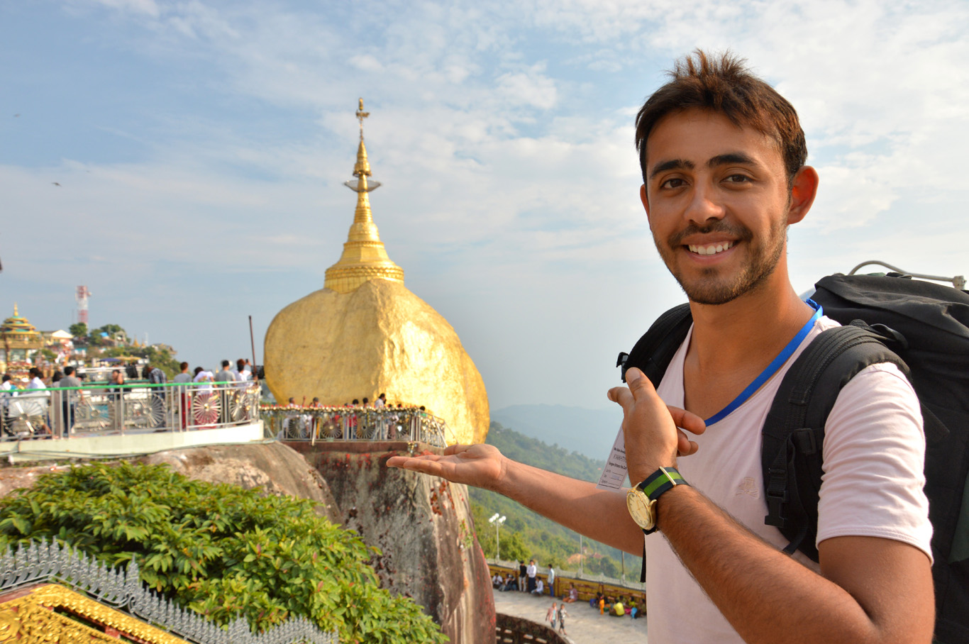 At the Golden Rock temple